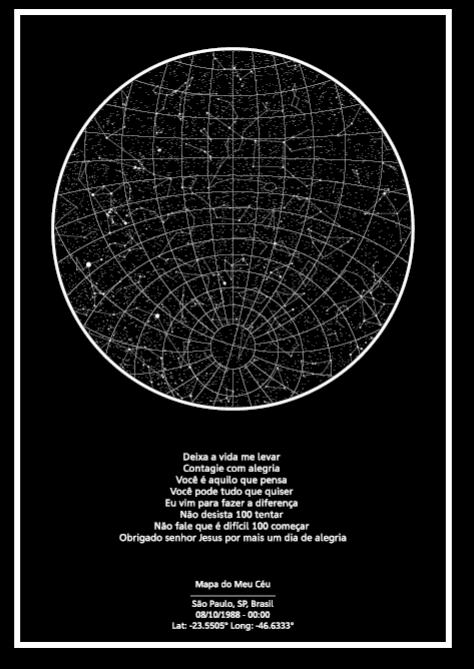 mapa do meu céu formato tradicional de momento especial