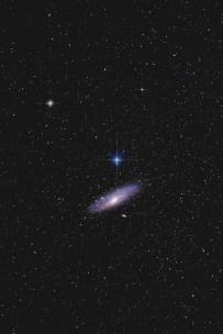 Andromeda e estrelas