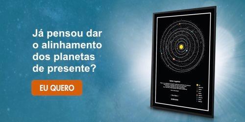 mapa dos planetas - banner azul