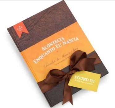 sites de presentes criativos - livro personalizado found it