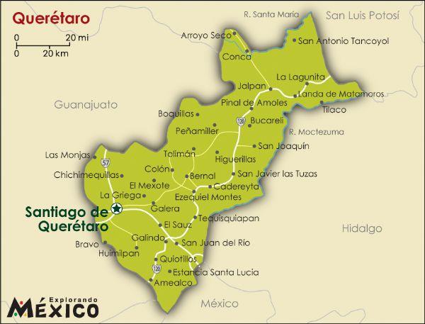 Mapa De Oaxtepec Morelos