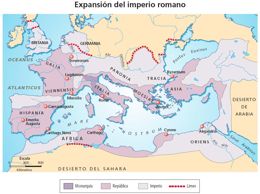 Resultado de imagen de mapa del imperio romano