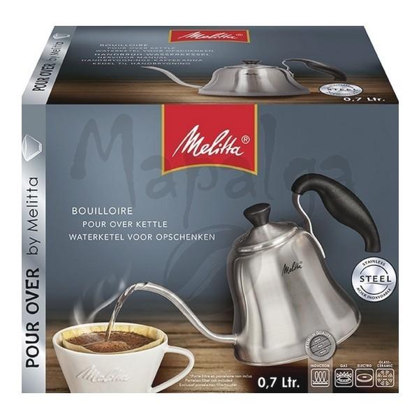 bouilloire inox induction 0 75l melitta 250g cafe moulu