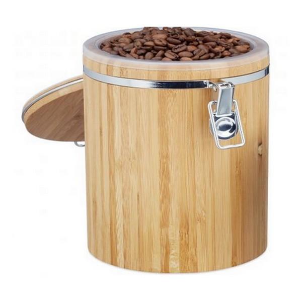 boite de rangement cafe grain bambou mapalga