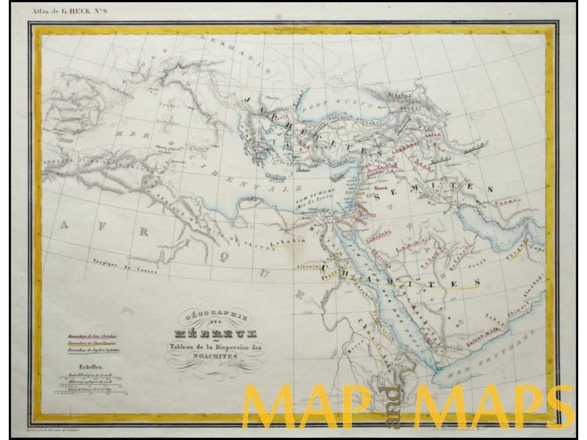 Geographie Des Hebreux Geography Of The Hebrews Heck