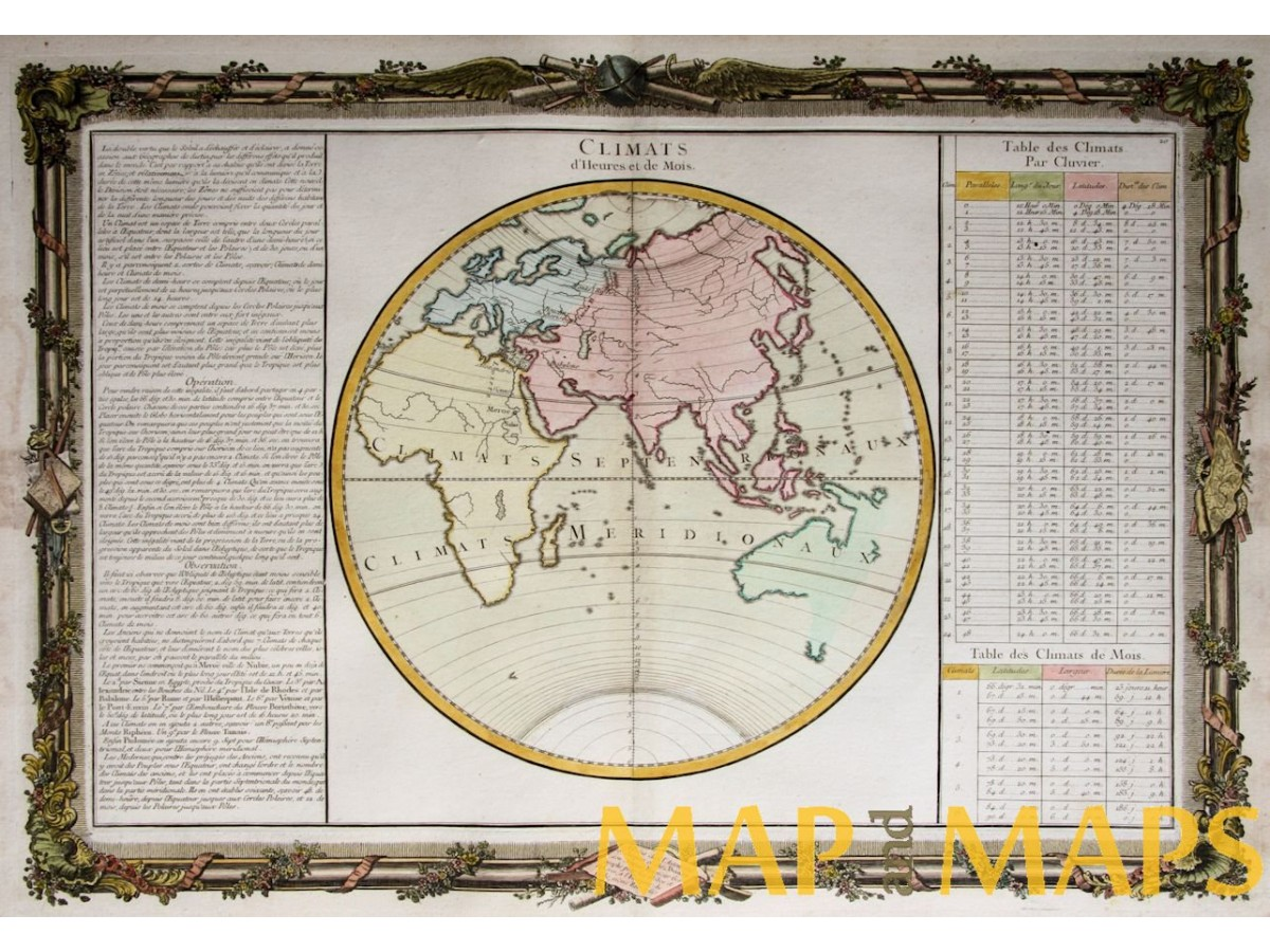 Eastern Hemisphere Northern Southern Climates Map Desnos
