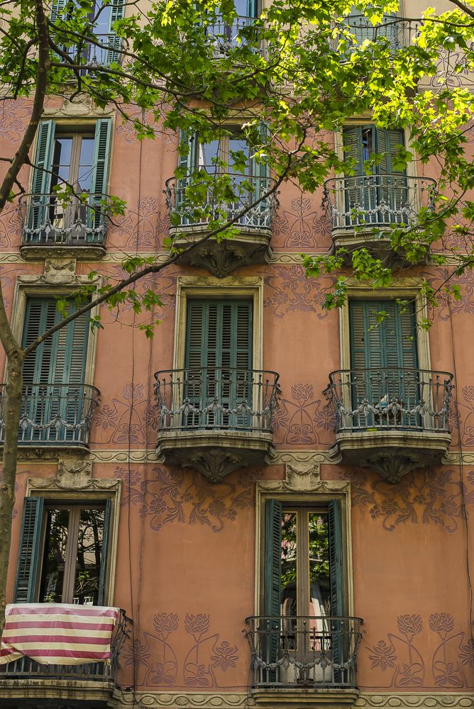 Beautiful building facade in Barcelona.