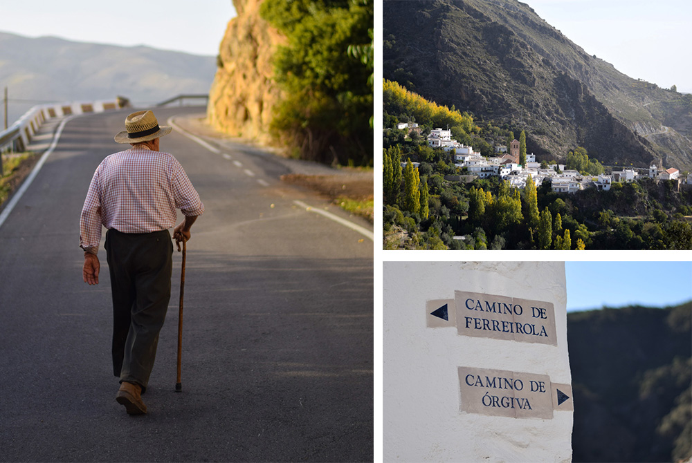 Alpujarra-Man,-sign-and-town-1000px