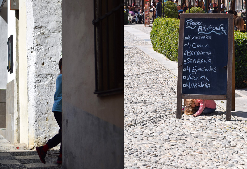 Image of things to do in Granada Spain for kids including exploring the Albaicin and enjoying the child friendly plazas