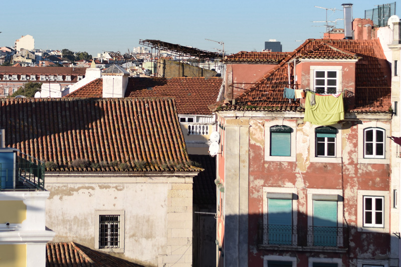 Terracotta rooftops of Lisbon Portugal