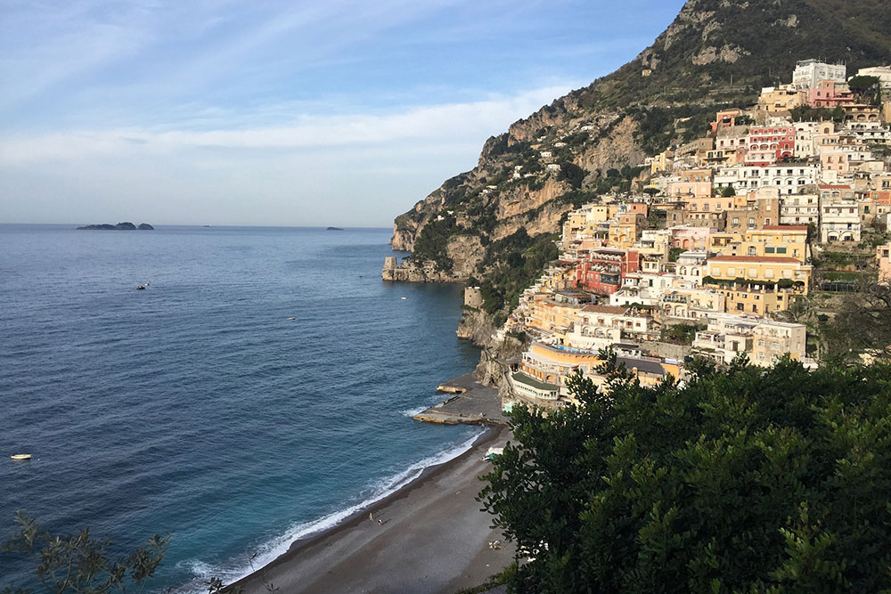 Photo of the town of Positano on the Amalfi Coast in Italy.