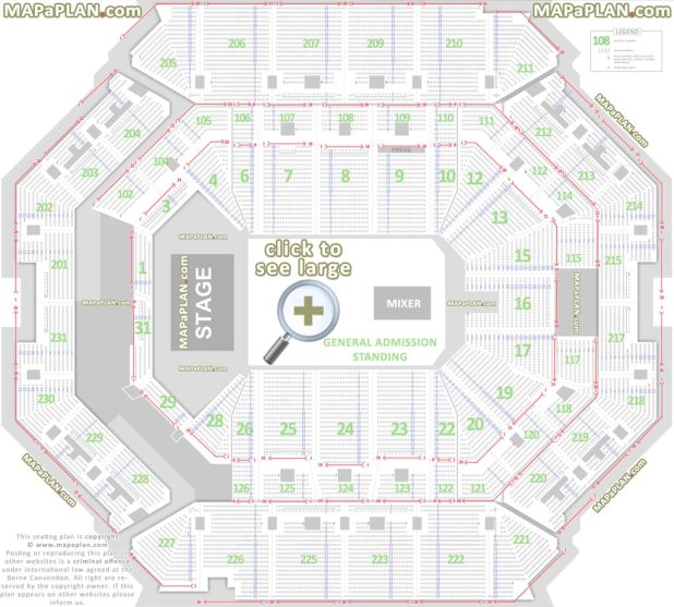 Seat Numbers Detailed Chart For General Admission Concert With Floor Standing Barclays Center Brooklyn Seating