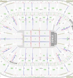 detailed seat row numbers end stage full concert sections floor plan with arena lower upper bowl layout boston td garden seating chart [ 2200 x 1582 Pixel ]