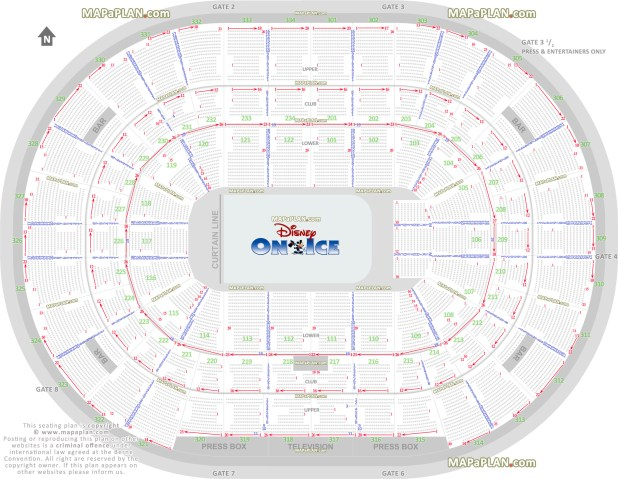Disney On Ice Oracle Arena 2017 Seating Chart