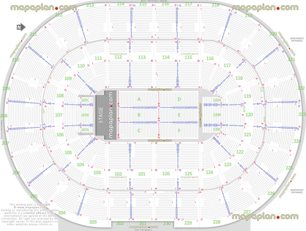 Seating Chart Palace Of Auburn Hills For Concerts Wallseatco