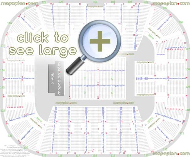 Detailed Seat Row Numbers End Stage Concert Sections Floor Plan Map Arena Concourse Level Layout Fairfax