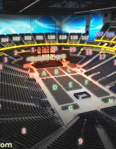 View seat section row  virtual concert stage venue  interactive inside review tour also new  mobile arena mgm aeg from my in rh mapaplan