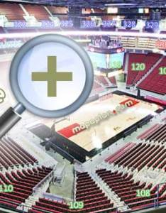 Louisville kfc yum center seating plan view section row  seat university  of  cardinals ncaa college basketball also numbers detailed chart rh mapaplan