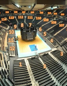 Interactive basketball  panoramic photo madison square garden seating chart also detailed seat numbers rh mapaplan