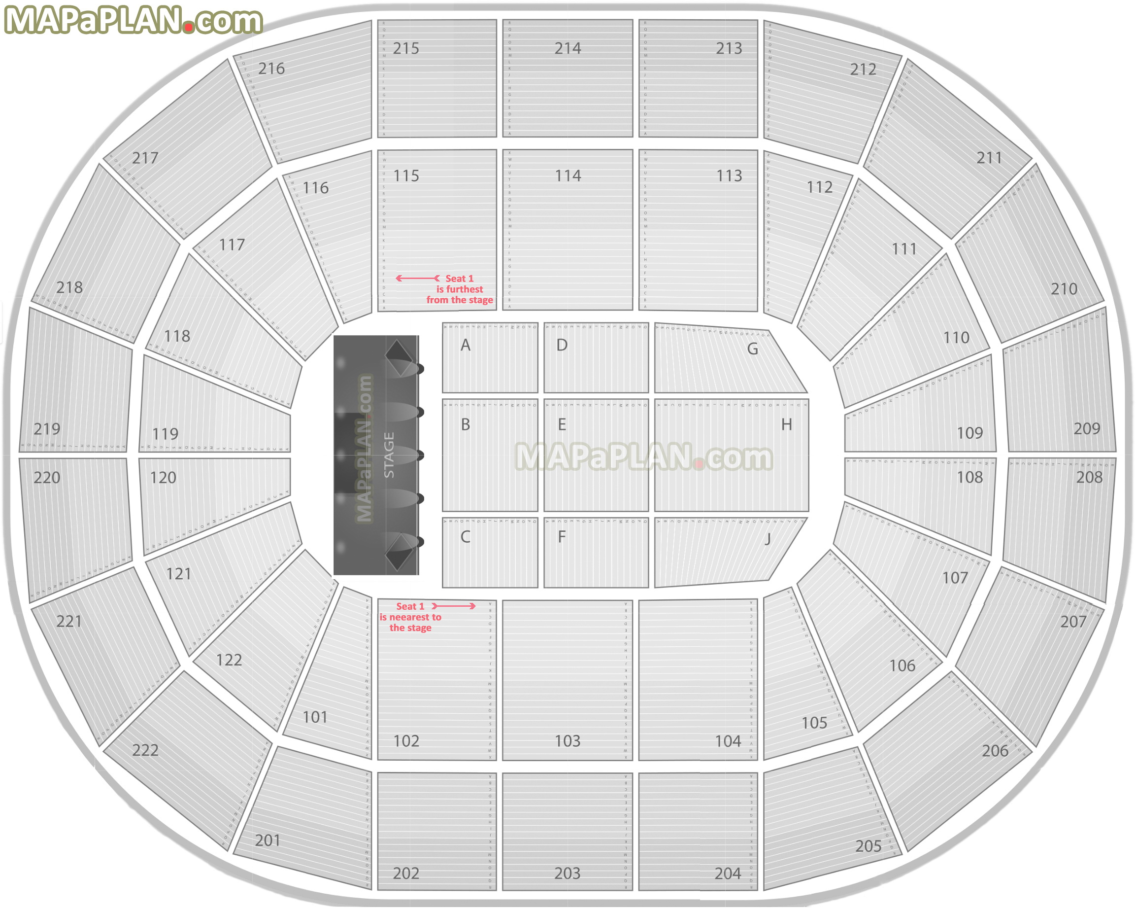 arena stage diagram car sound system scottrade center seating chart with rows and seat numbers