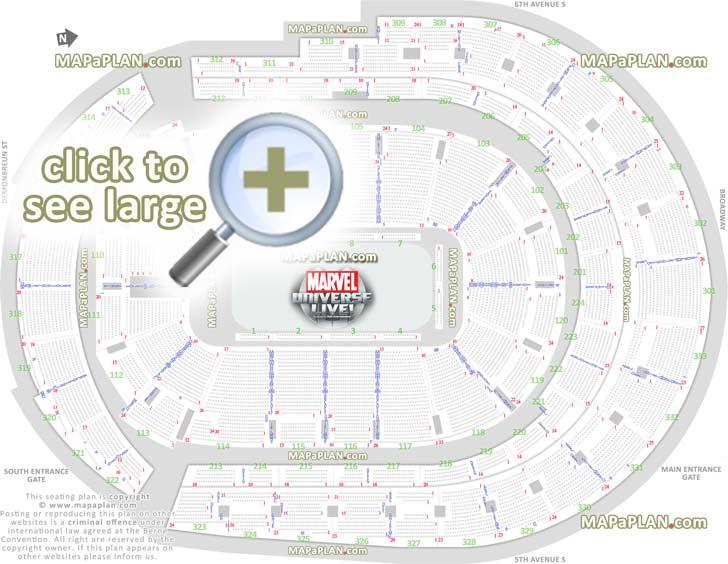 Numbers Seating Chart Arena Bridgestone Seat