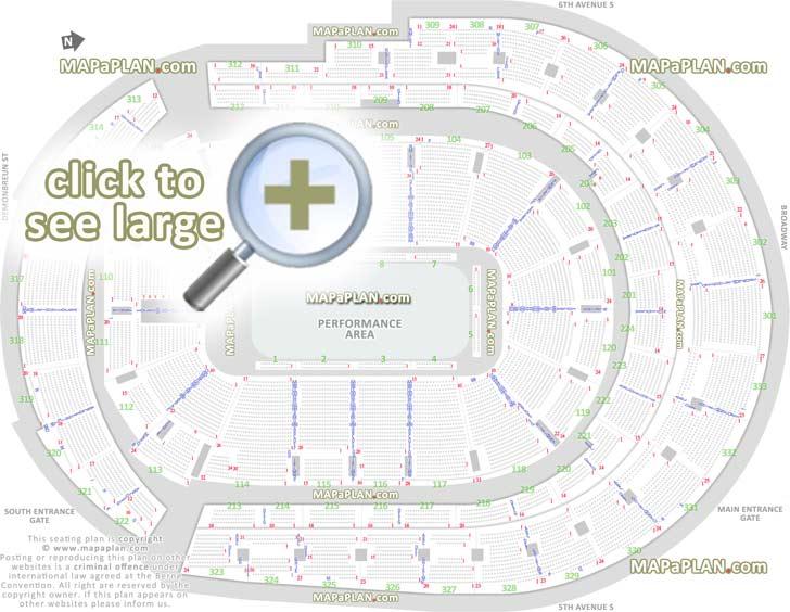 Bridgestone Arena Seat Amp Row Numbers Detailed Seating