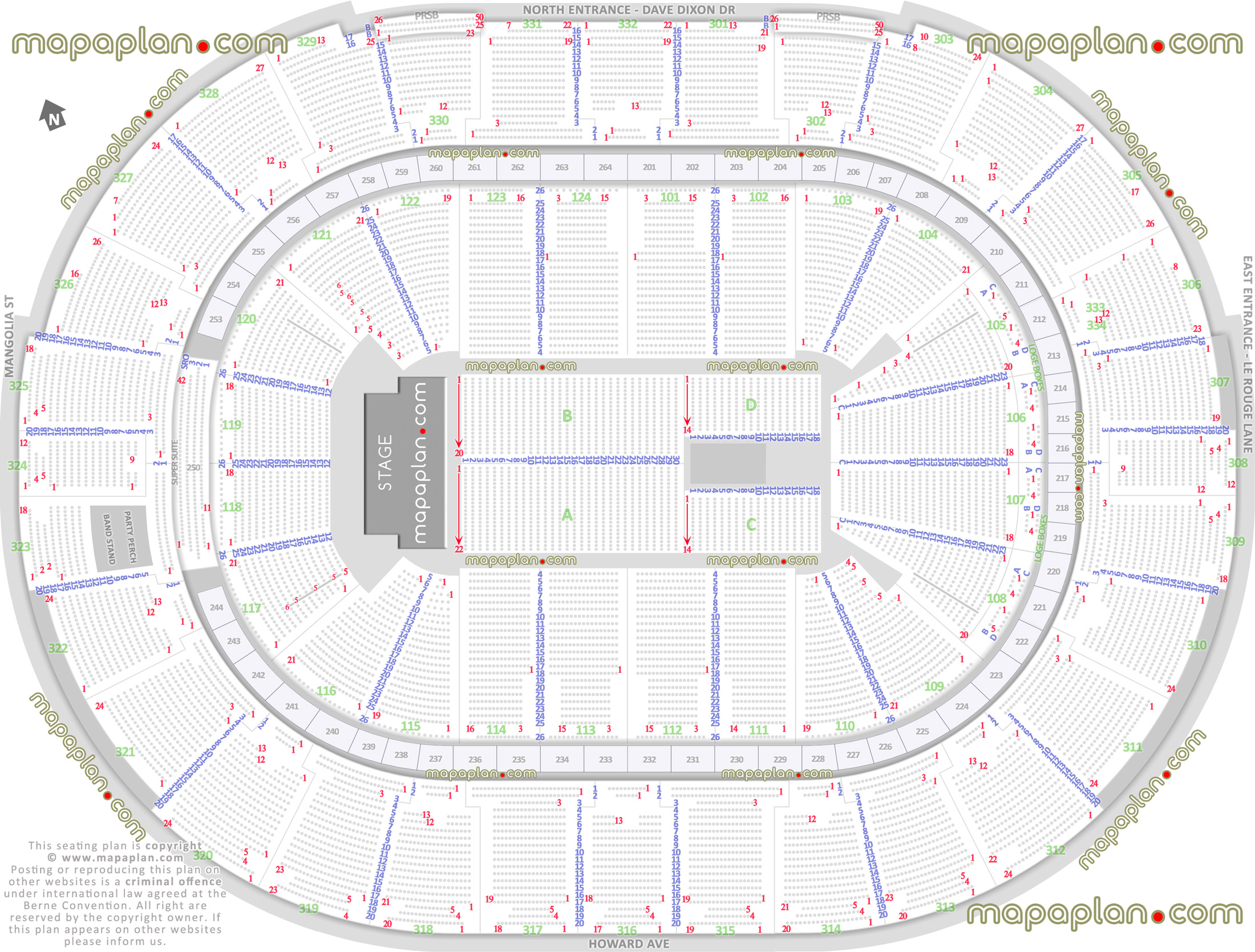 arena stage diagram 2004 ford focus wiring smoothie king center detailed seat and row numbers