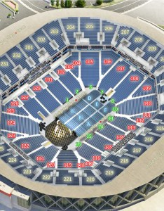 Oracle arena seating chart concert stage view all sections rows virtual venue  interactive inside review tour interior picture concourse also seat  row numbers detailed oakland rh mapaplan