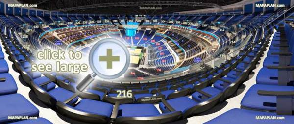 Amway Center seat row numbers detailed seating chart