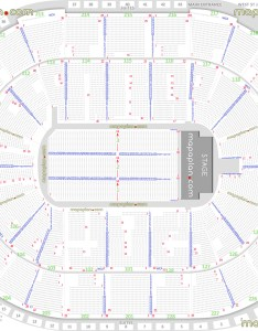 Detailed seat row numbers end stage concert sections floor plan map arena lower upper level layout also sap center  seating chart san jose rh mapaplan