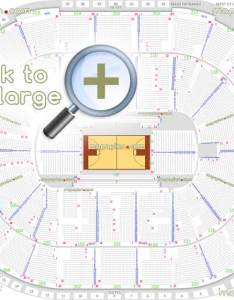 Nba basketball tournament game seating map printable layout diagram with full exact row numbers plan showing how many seats per in lower  upper bowl also sap center seat detailed chart san jose rh mapaplan
