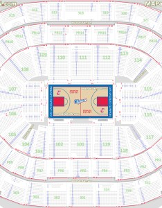 Los angeles clippers basketball seat numbers floor map with rows  sections court plan staples center seating chart also detailed la california rh mapaplan