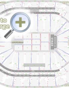 Detailed seat row numbers end stage concert sections floor plan map arena plaza mezzanine layout sunrise also bb   center seating chart rh mapaplan