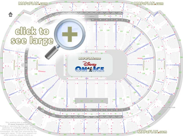 ncaa basketball court diagram cat5e poe wiring bb&t center seat & row numbers detailed seating chart, sunrise - mapaplan.com