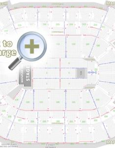 Detailed seat row numbers end stage full concert sections floor plan arena main concourse club upper also washington dc verizon center seating rh mapaplan