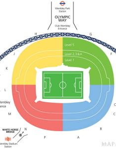 Wembley stadium seating plan lower and upper tier access layout also detailed seat numbers mapaplan rh