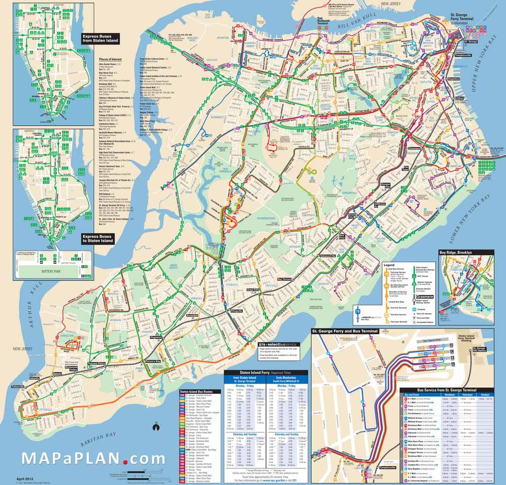 graphic relating to Nyc Tourist Map Printable named Map Of Fresh new York Town Sights Printable