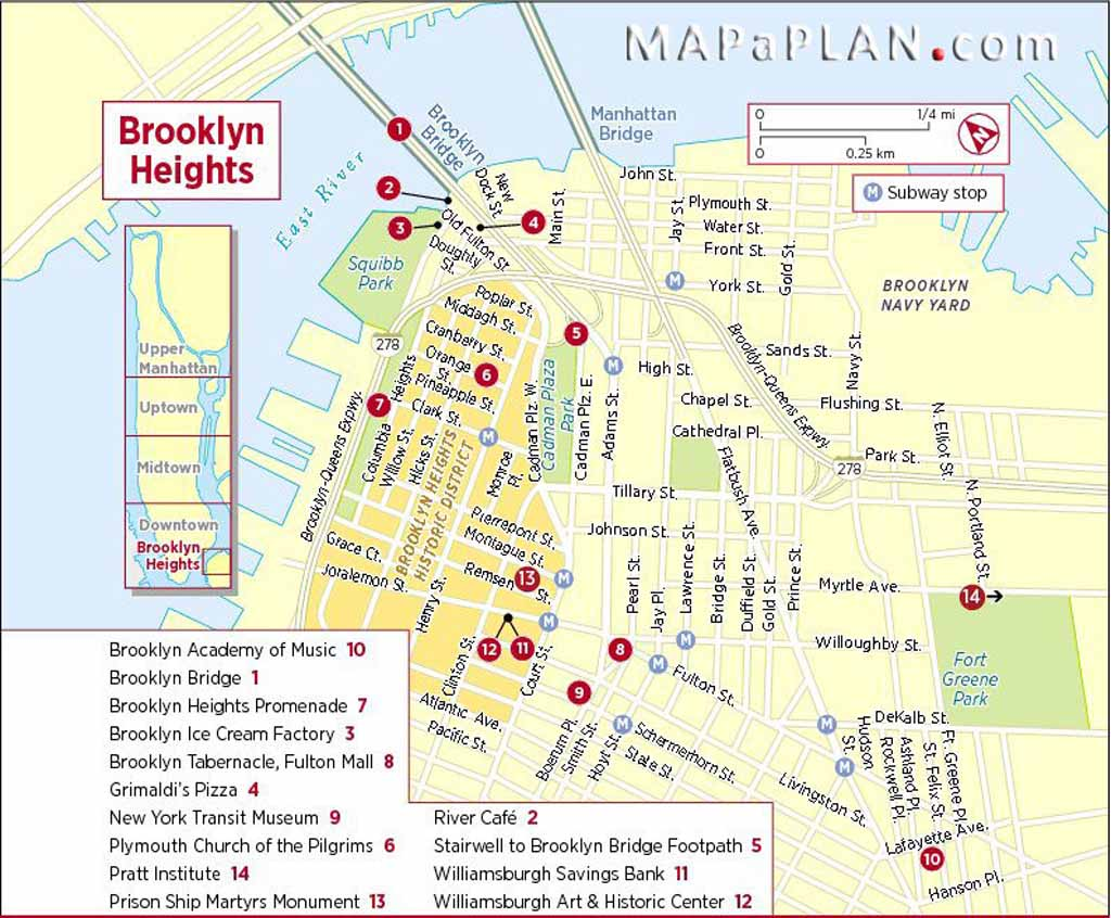 Tourist Attractions Map In New York where is dubai on a map us ...
