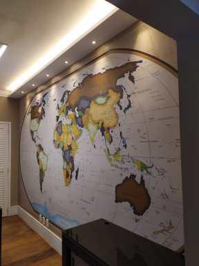 Mapa Mundi National-Geographic Brasil aplicação