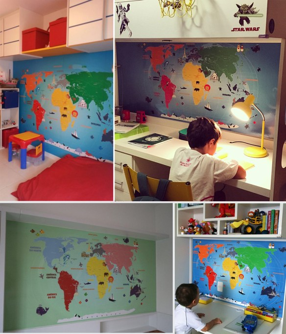 mapa mundi infantil diversos modelos