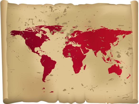 Adesivo Parede Mapa Mundi Antigo