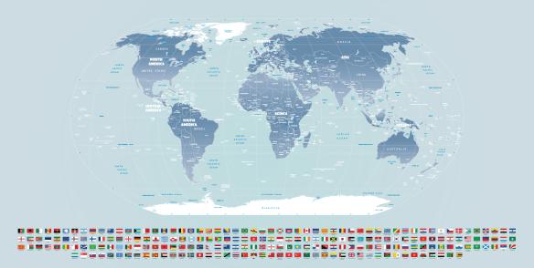 Papel de Parede Mapa Mundi para decorar