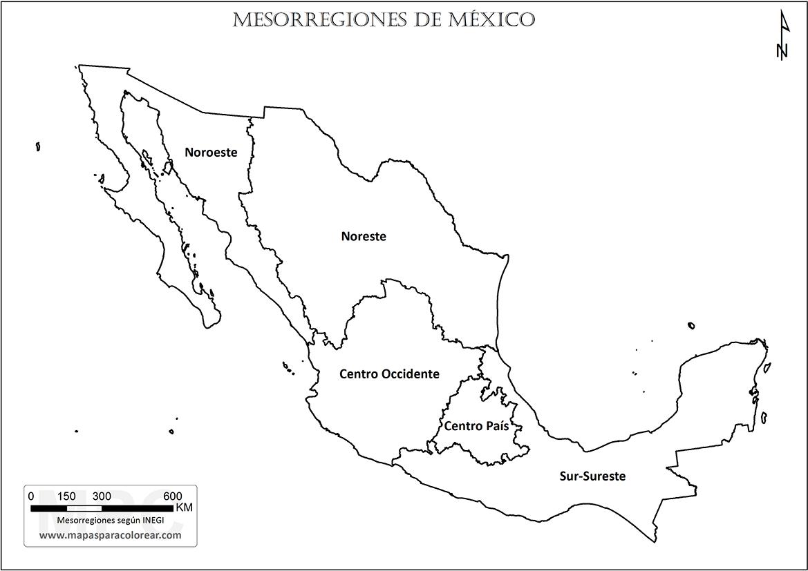 Las Regiones Naturales De Mexico Para Colorear