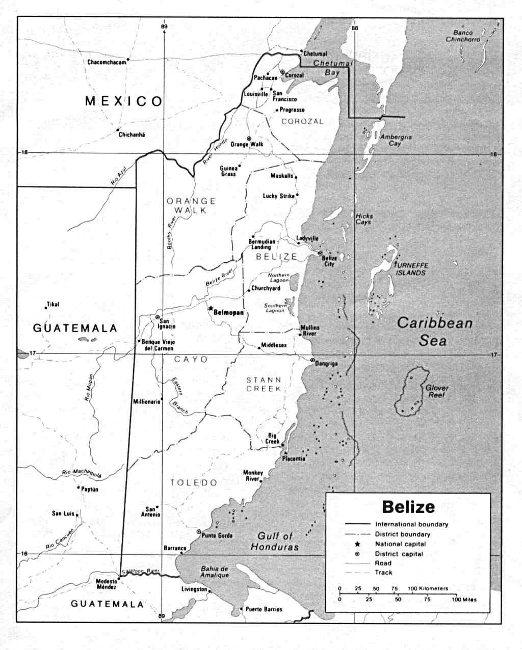 Free Belize Maps