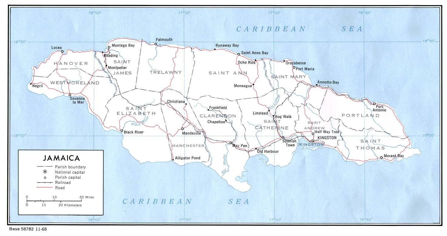 Download Free Jamaica Maps
