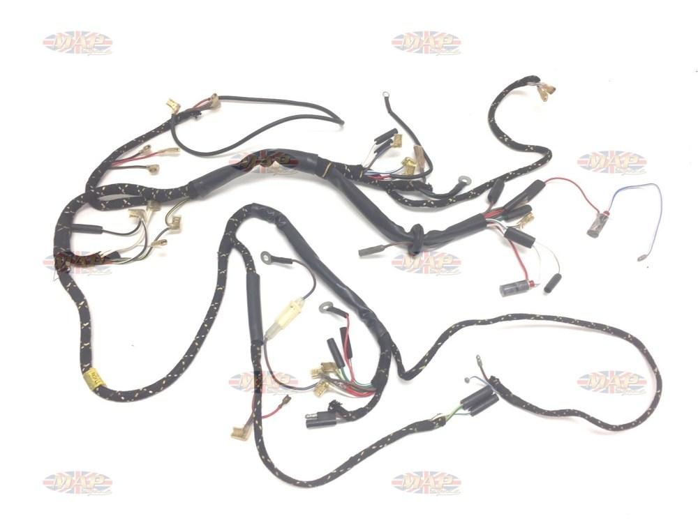medium resolution of triumph 1969 tr6c genuine nos lucas wiring harness 54955719