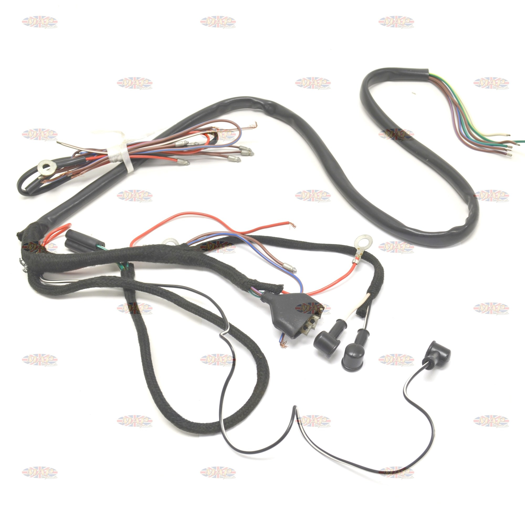 hight resolution of triumph 1957 63 5ta 6t 3ta oe factory lucas wiring harness 794981