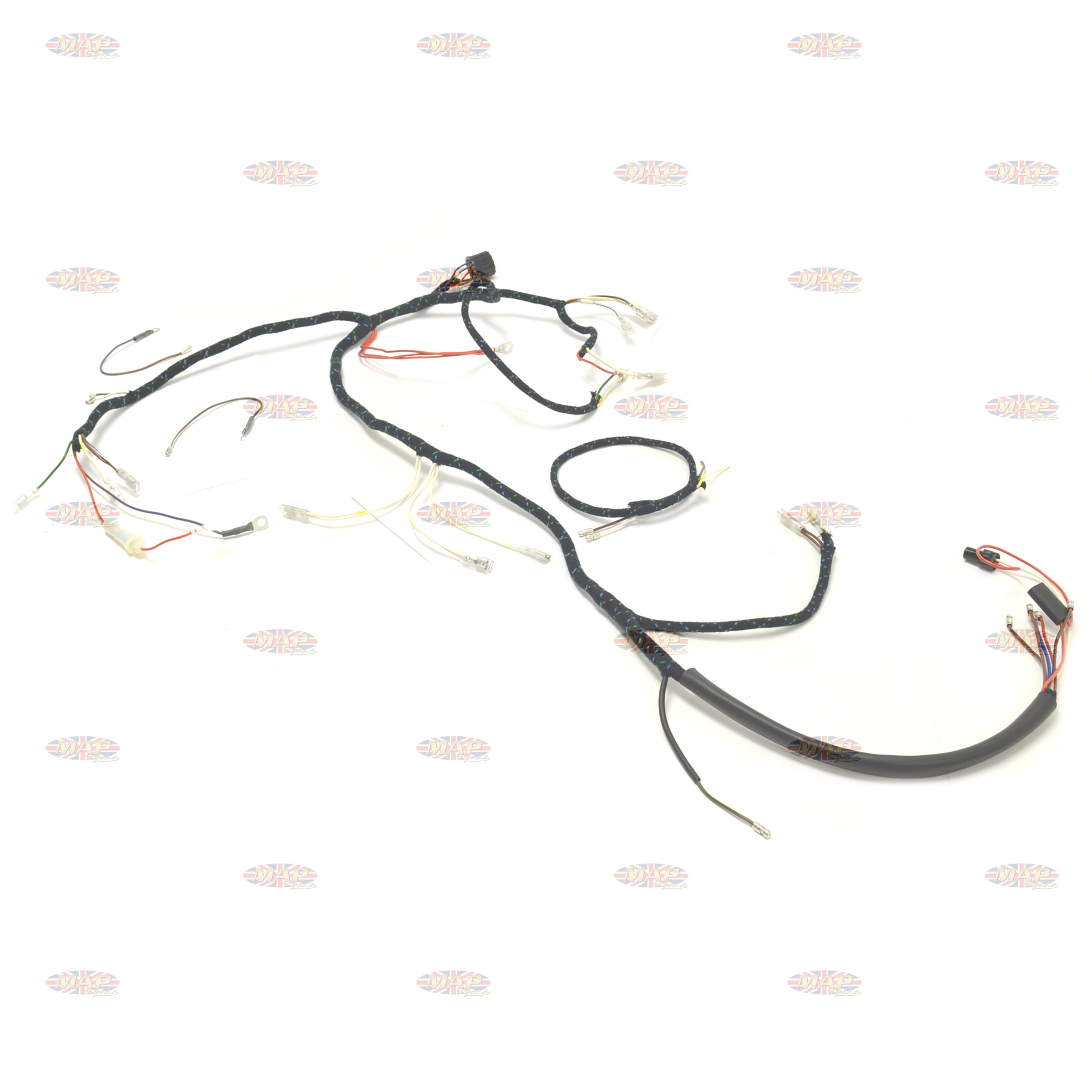 Triumph 1966 T90 T100 T120 TR6 UK-Made 12-Volt Wiring Harness
