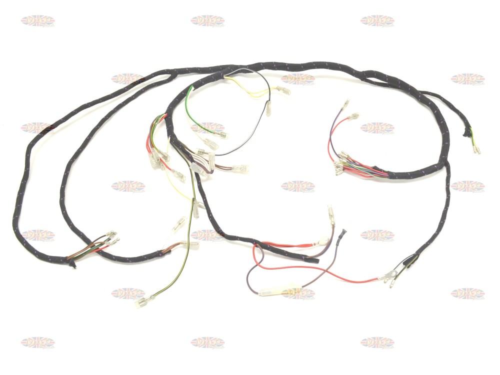 medium resolution of triumph 1971 73 t120 bonneville tr6 tiger uk made main wiring 1971 triumph bonneville wiring harness 1971 triumph bonneville wiring harness