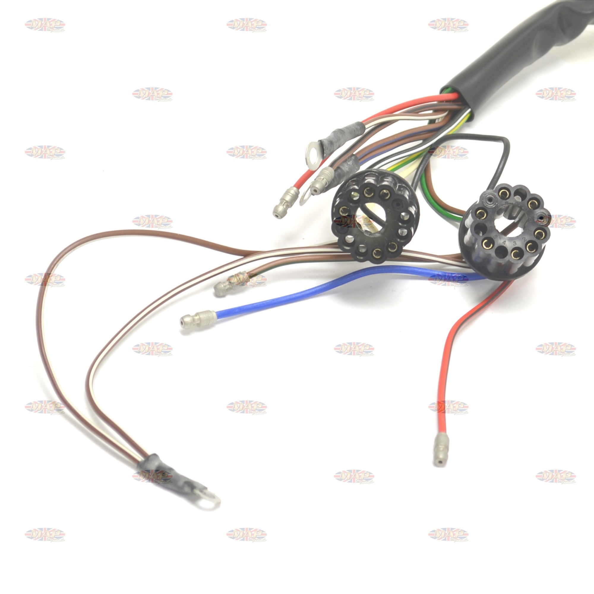 hight resolution of  bsa 1966 67 a50 a65 uk made 12 volt wiring harness h040